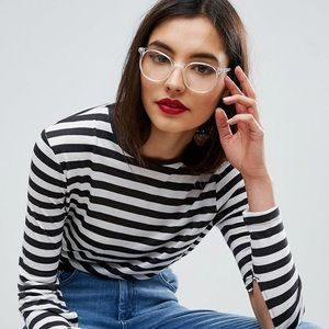 c5ff0a55008 ASOS Accessories - ASOS DESIGN Geeky Clear Lens Clear Frame Glasses
